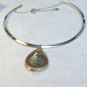 NWOT  Gold & silver tone collar necklace